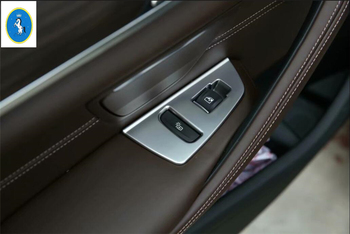 Chrome ABS Door Window Lift Button Armrest Panel Trim For BMW 5 Series G30 17-19