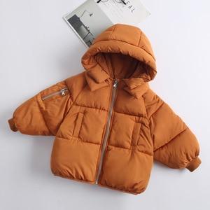 Image 2 - 2 6Yrs子供のカジュアルアウターコート女の子コールド冬暖かいフード付きコート子供綿が詰め服子供たちジャケット