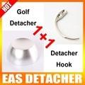 1Pc Intensity 12000gs Security Hard Tag Golf Detacher + 1Pc Detacher Hook Key Tag Remover EAS System The Security Detacher