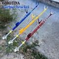 Soporte para caña de pescar de fibra de carbono soporte para caña de pescar 7 Secciones 1,7 M 2,1 M 2,4 M soporte telescópico para caña de pescar
