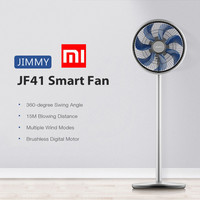 Xiaomi JIMMY JF41 Electric Smart Fan 360-Degree Oscillation 15M Blowing Distance Multiple Wind Modes Pre-Set Setting Floor Fan