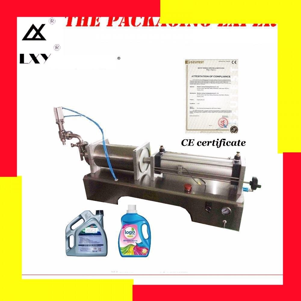1000-5000ml Pneumatic Piston Washing Liquid Filler Juice Vinegar Soy Sauce Oil Filling Machine Water Detergent Shampoo