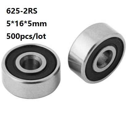 625-2RS QUALITY RUBBER SEALED BEARING 5x16x5mm
