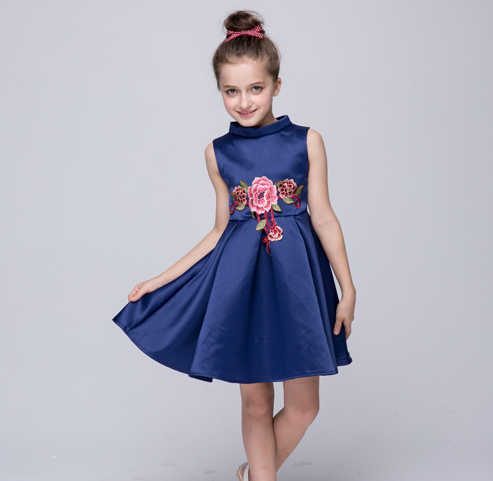 2018 Birthday Party New Petal Kids Clothes for Flower Girls Wedding Dresses, christmas baby girls Formal Party Dress 3- 8y new christmas flower girls dress lace embroidery trumpet wedding pageant birthday summer princess party dresses clothes 3 12yrs