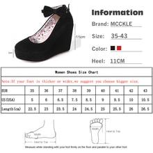 MCCKLE Women Fashion Buckle Ladies Shoes