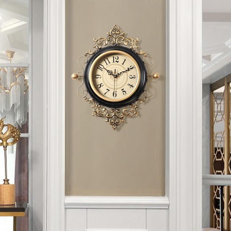 American Art di Lusso Orologio D'epoca Orologio Al Quarzo Creativo Europeo Orologio Da Parete Soggiorno Silenzioso Reloj Pared Casa 50w230