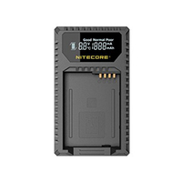 Nitecore ULQ Digital USB Travel Charger for Leica BP DC12 BatteriesCompatible with Leica Q (Typ 116),V Lux 4 Series Cameras