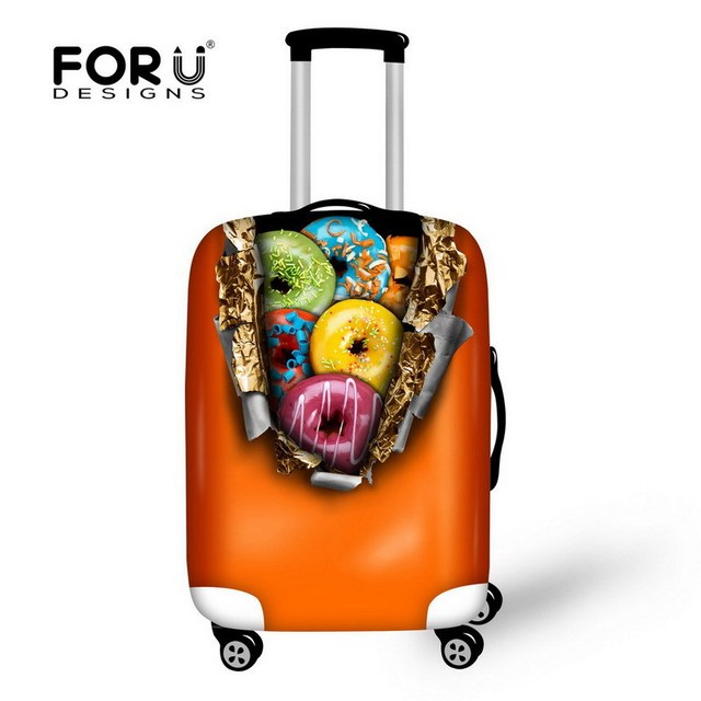 Fancy 18-30 inch Fruit Style Travel Luggage Cover Thick Elastic Luggage Protector Waterproof Suitcase Protective Dust Cover