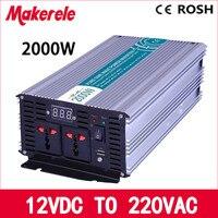 pure sine wave power inverter 12v 220v 2000w high efficient off grid voltage solar converter LED Display MKP2000 122