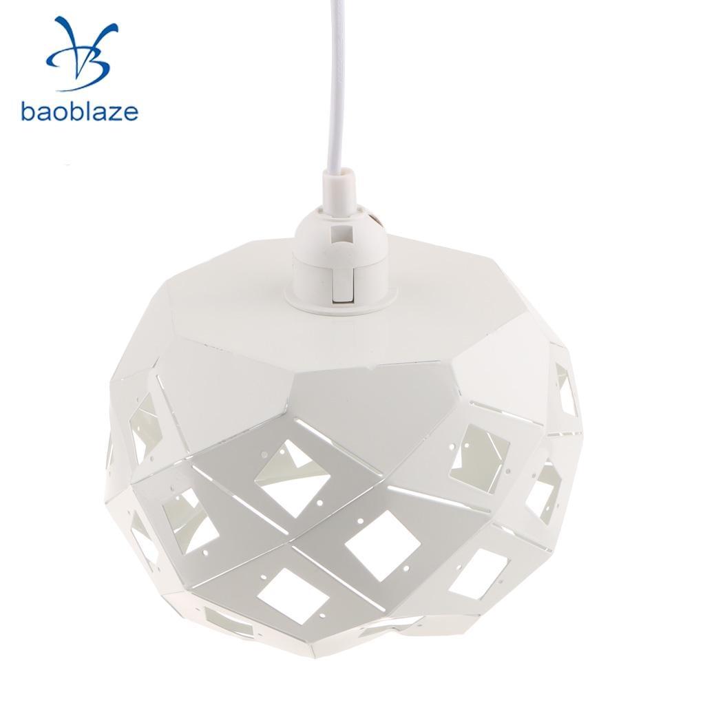 Ceiling Light Cage Bulb Cage Pendant Light Shade Loft Retro Lampshade White