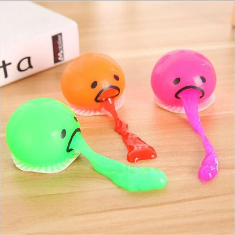 2018 Funny Hot Selling Vomiting Egg Slime Toys Yolk Lazy Brother Squeezed Slime Creative Prank Antistress Funny Toys Gifts