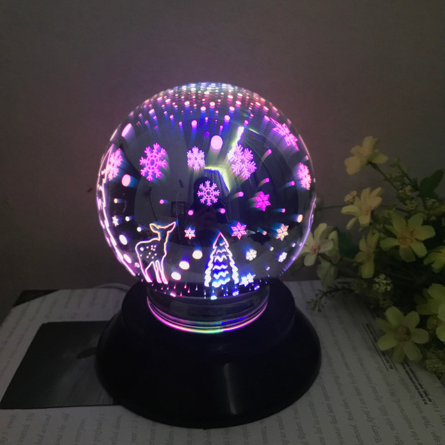2018 New Arrival Christmas Led Magical Light Usb Charging Colorful House Party Decor Lamps