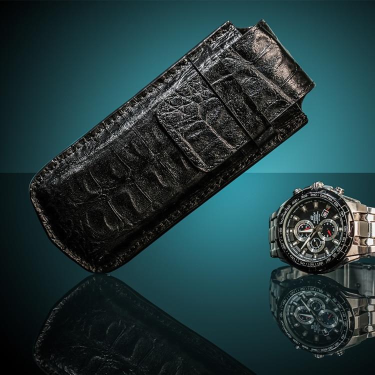 Topanta e lartë e shikimit të vetëm prej lëkure Moda Watch Black - Aksesorë për orë - Foto 2