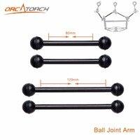 Aluminium Ball Mount 80mm 120mm Ball Joint Arm Camera Tray Holder Bracket for Underwater Scuba Diving Photography Flashlight