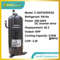 6HP DC inverter drive 21KW scroll compressor  for  air conditioner and air source or water source heat pump water heater