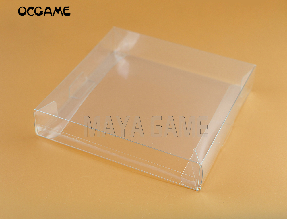 OCGAME 2pcs/lot transparent for <font><b>Gameboy</b></font> Advanve <font><b>Color</b></font> Cartridge box Protector Case CIB <font><b>games</b></font> plastic PET Protector for GBA GBC image