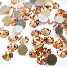 Crystal Light Peach All Size Non Hotfix  Strass Pink Rhinestones Flatback Decorations for nail art decorations