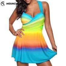 Women Colorful Swimwear Fashionable Beach Dress Gradient Swimsuit Beautiful Swim Suit