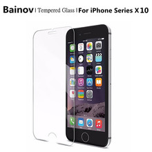 Bainov 10Pcs/Lot Tempered Glass for iphone 5 5s Screen Protector for iphone 6 6s 7 7Plus Glass 9H 2.5D 0.26mm Tough Screen Film
