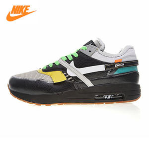 12100121f2b250 Nike THE10NIKE Men s Running Shoes AIR MAX 1 87 Black white Shock-absorbing