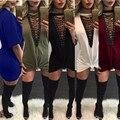 Холтер, Высокая Шея, Глаза Повязку Женщин Рубашка Мода Мини Короткое Платье Элегантный Клуб Новые Рубашки Женщины Одеваются