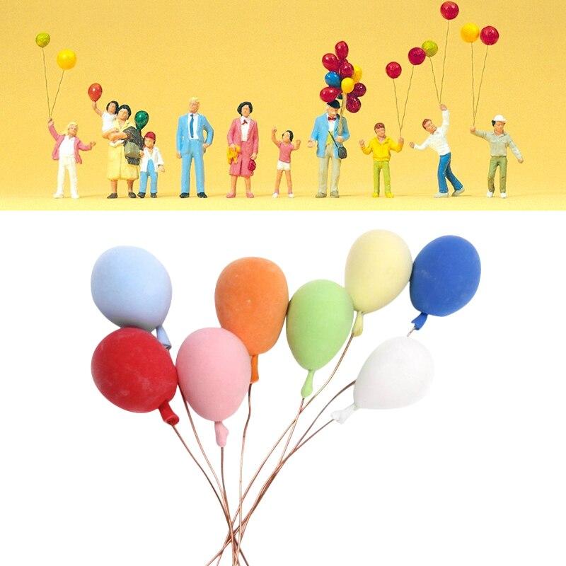 Dongzhur 1:12 Doll House 8 Sells Color Random Mini Toy Balloon House Decorative Toys