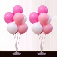 1 Set Plastic Balloon Support 7 Tubes Balloons Column Stand Birthday Party Decoration Valentines Day Wedding Decor Accessories