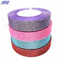 HL 4 rolls 20mm width glitter ribbon gift packing belt wedding party Christmas embellishment weaving sewing accessories A841