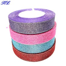 4 rolls 20mm width glitter ribbon gift packing belt wedding party Christmas embellishment ribbon sewing accessories A841 недорого