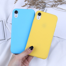 For iPhone XS Case Soft TPU Candy Color Case For iPhone X XR MAX 6 6S 7 8 Plus 5 5S SE Luxury Rubber Silicone Protection Cover цена и фото