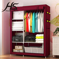 House Scenery Simple Solid Waterproof Folding Fabric Wardrobe Locker Living Room Closet Clothes Furniture Oxford Storage Cabinet