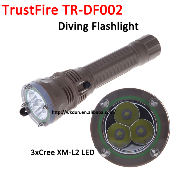 Attack Head 2 Mode TrustFire TR DF002 Cree XM L2 Underwater 100m IPX8 LED Rechargeable Diving