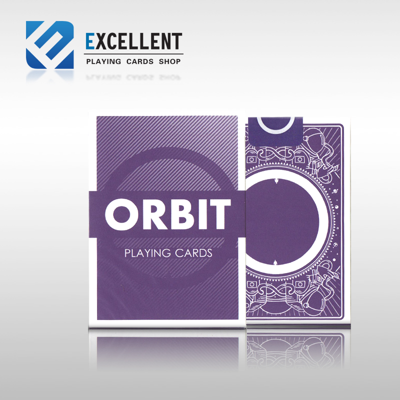 1Pcs Orbit V3 Purple Flower Cut Collection Poker Limited Mew Sale Playing Card Magic Props Favorite Deck Cardistry