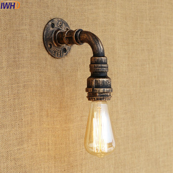 IWHD Antique Edison Water Pipe Wall Lamp Vintage Loft Style Industrial Wall Lights Fixtures LED Stair Light Appliques Murale iwhd antique rustic vintage wall lamp bedroom mirror stair glass loft decor industrial retro wall light fixtures wandlamp edison