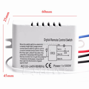 Image 4 - Wireless 1/2/3/ Channel ON/OFF Lamp Remote Control Switch Receiver Transmitter  Drop Shipping