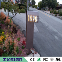 Factory Outlet Outdoor 304 Stainless Steel LED House Numbers Apartment LED Numbers Size H15cm