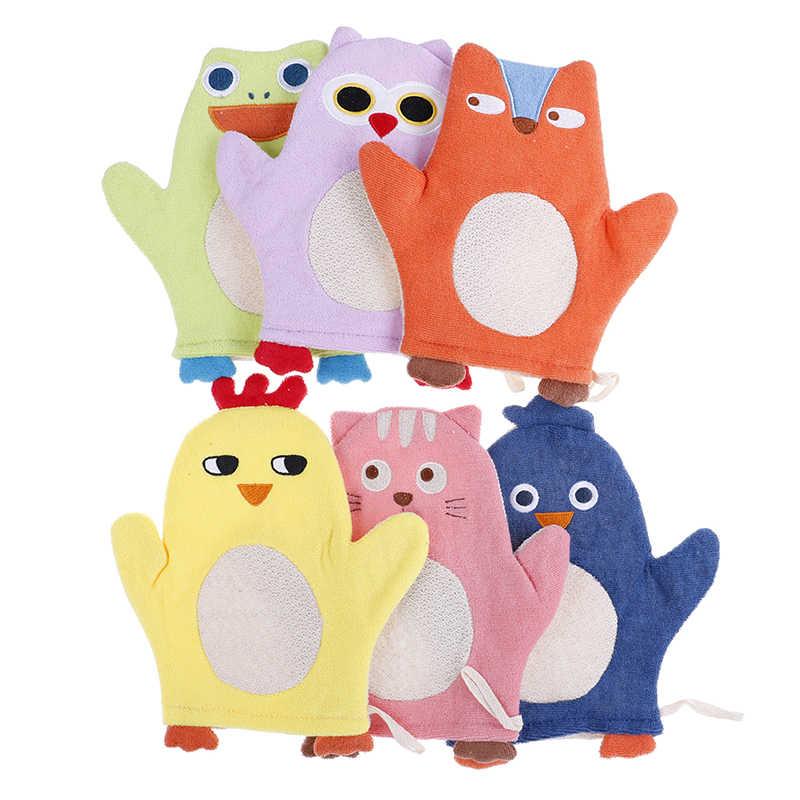 Baru 1 Buah Hewan Fox Penguin Kartun Lembut Bayi Sikat Mandi Bayi Shower Sarung Tangan Anak Necessaries