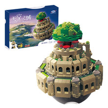 2017 Castle Blocks Music Box 1179Pcs Creative MOC Series Miyazaki The City in The Sky Building Block Toys Assembled Model 05001