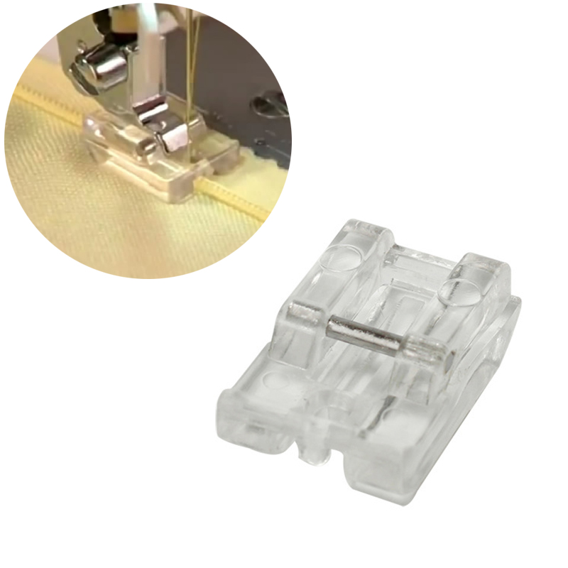 1pcs Clear Plastic Invisible Zipper DIY Sewing Presser Walking Foot Creative Practical Clothes Sewing Feet For Sewing Machines