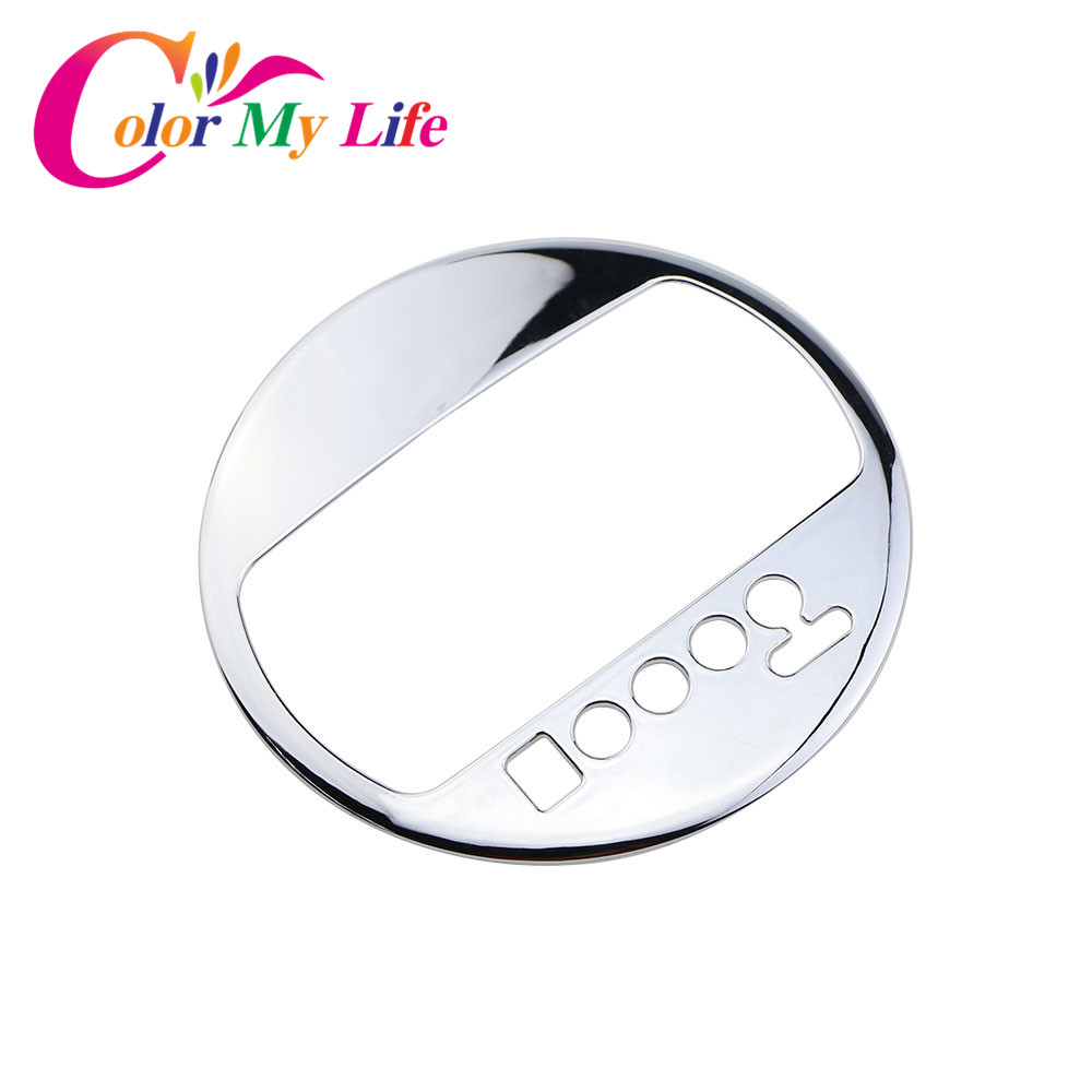 Color My Life ABS Chrome Gear Panel Cover Car Gear Knob Decoration Sticker for Kia Sportage R AT 2012 2013 2014 2015 Accessories цена