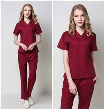 Slimming stretch hand-washing suit short sleeve set pure cotton doctor isolation oral beauty fashion work clothes
