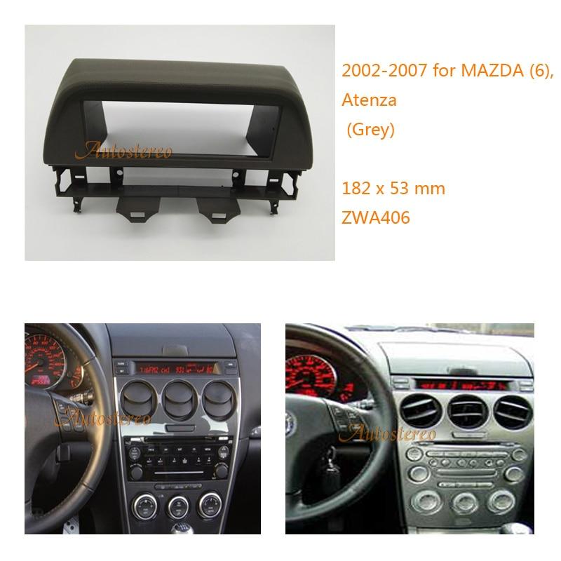 one din Car DVD/CD Radio Stereo Fascia Panel Frame Adaptor Fitting Kit for MAZDA (6), Atenza 2002-2007 ZWA-406 feeldo car dvd cd radio stereo fascia panel frame adaptor fitting kit for mazda rx8 am4744