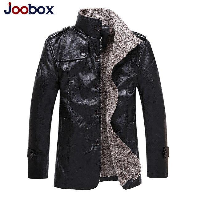 revendeur 74ceb 9f11c € 38.8 39% de réduction|JOOBOX Marque 2017 mâle hiver chaud épais veste en  cuir punk hommes Faux cuir vestes manteaux de mode moto veste de ...