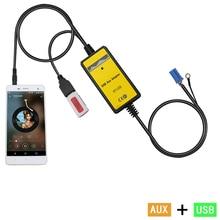 Moonet adaptador de Coche reproductor de MP3 3.5mm AUX-IN TF SD USB CD cambiador De 8 P Asiento Skoda VW Golf Jetta Octavia Spuerb QX010