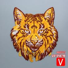 embroidery big tiger patches for jackets,large badges jeans,cartoon appliques coats,A578