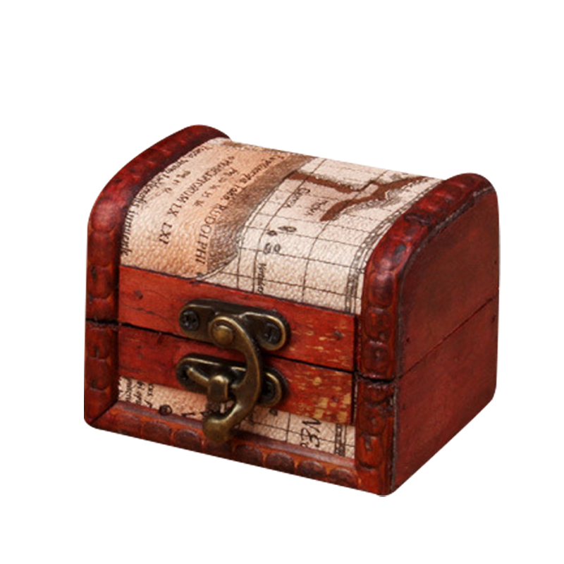 Retro Design Trinket Jewelry Storage Box Handmade Vintage Wooden Treasure Case Classic Gift Wood Material Boxes-in Storage Boxes & Bins from Home ...