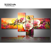 ZOOYA Diamond Embroidery Flower 5D DIY Diamond Painting 4PCS Calla Flower Diamond Painting Cross Stitch Rhinestone