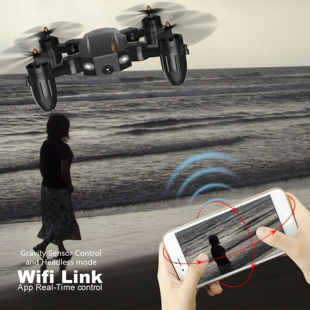 FQ777 FQ36 2.4G Mini WiFi FPV with 720P HD Camera Altitude Hold Mode Real-time Foldable RC Drone Quadcopter RTF