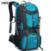 MELIFE Outdoor Waterproof Hiking Backpack 40 50L Ventilated Women Men Camping Travel Bags Molle Trekking Climbing