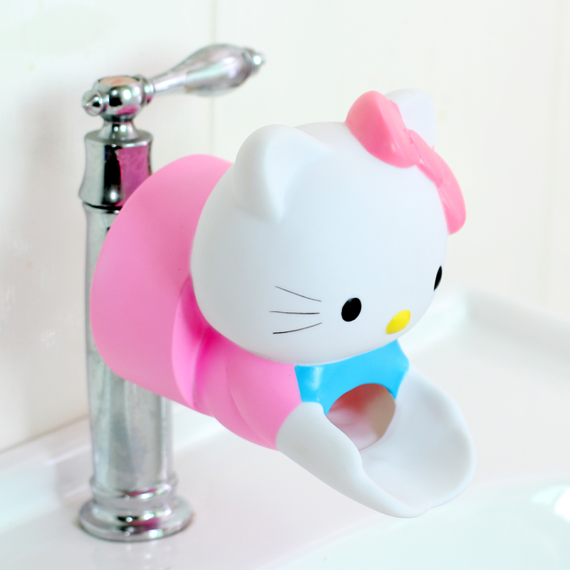 Hello Kitty Cartoon Faucet Extenders Kids Children Hand Washing  Stitch Jingle Cat  Faucet Extender Bathroom Accessories Tools